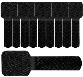 Label The Cable Wall Velcro Cable Holder Set Of 10 Black