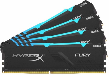Kingston HyperX Fury Black RGB 64GB 3000MHz CL15 DDR4 KIT OF 4 HX430C15FB3AK4/64
