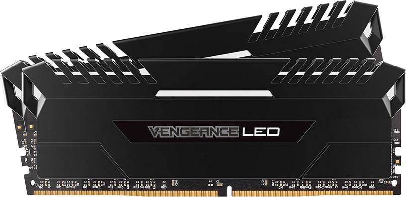 Corsair Vengeance LED 16GB 3000MHz DDR4 CL15 White DIMM KIT OF 2 CMU16GX4M2C3000C15