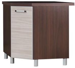 Alumine köögikapp Bodzio Ola KoNDK Corner Walnut/Latte, 760x520x860 mm