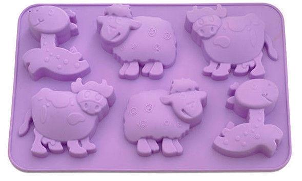 Fissman Cake Mold Horse Cow Sheep 25x17x3cm 6 Cups