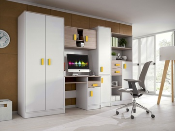 Комплект мебели для детской комнаты Idzczak Meble Macius White/Sonoma Oak