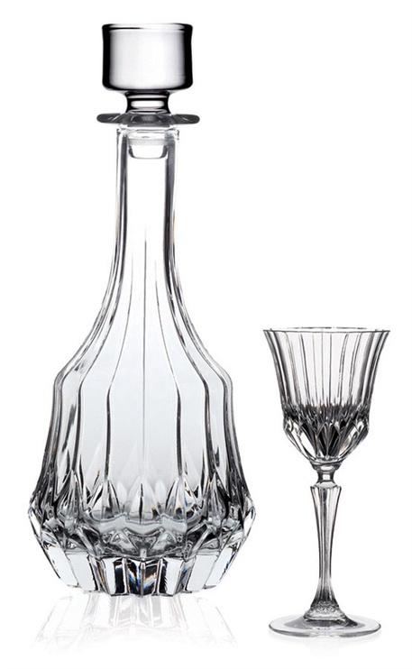 Kristallist likööriklaaside ja karahvini komplekt