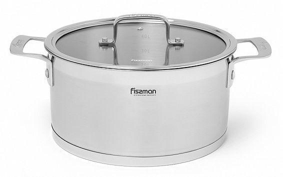 Fissman Fobus Casserole With Glass Lid D24cm 5.4l