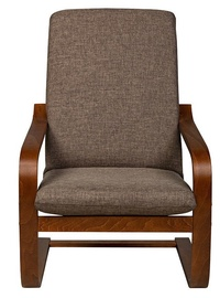 Black Red White Ania Armchair Brown