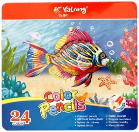 Avatar Pencils 24PCS Colourful Yalong In Metal Box