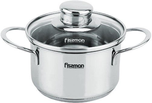 Fissman Pot Bambino Stainless Steel 12x7.5cm With Glass Lid 0.8L 5272