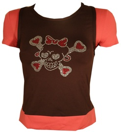 Bars Womens T-Shirt Brown/Pink 101 XS