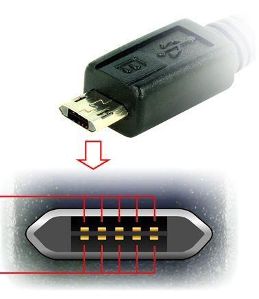 Delock Cable USB / Micro USB White 3m