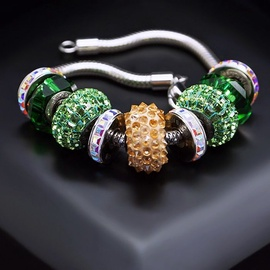 Diamond Sky Bracelet Becharmed Pavé V With Swarovski Beads