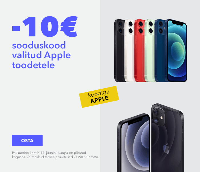 10€ sooduskood valitud Apple toodetele