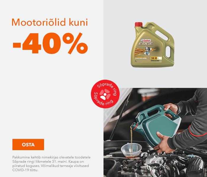 Mootoriõlid kuni -40%