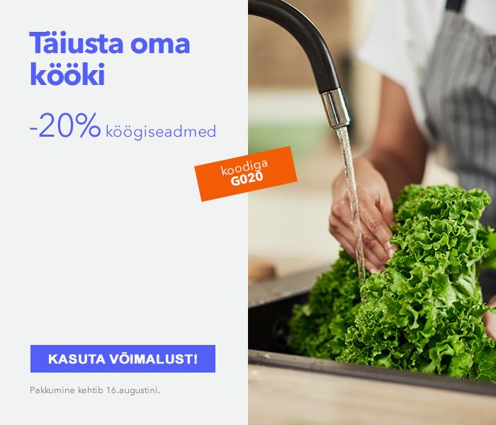 Täiusta oma kööki Köögiseadmed -20%