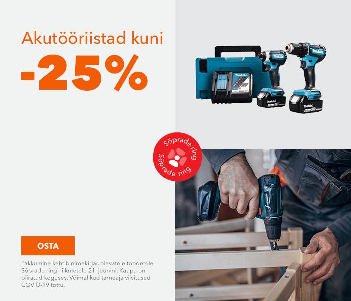 Akutööriistad kuni -25%