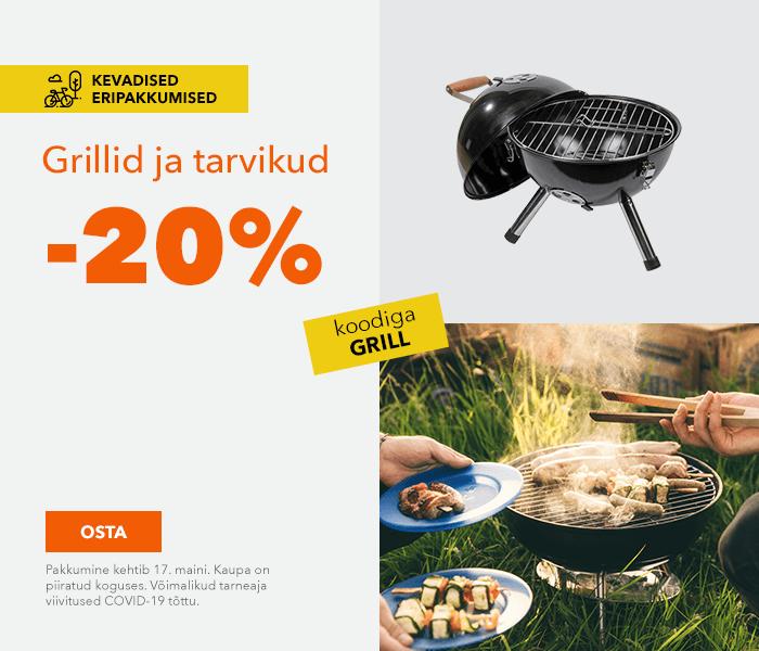 Kevadised eripakkumised Grillid ja tarvikud -20% koodiga GRILL