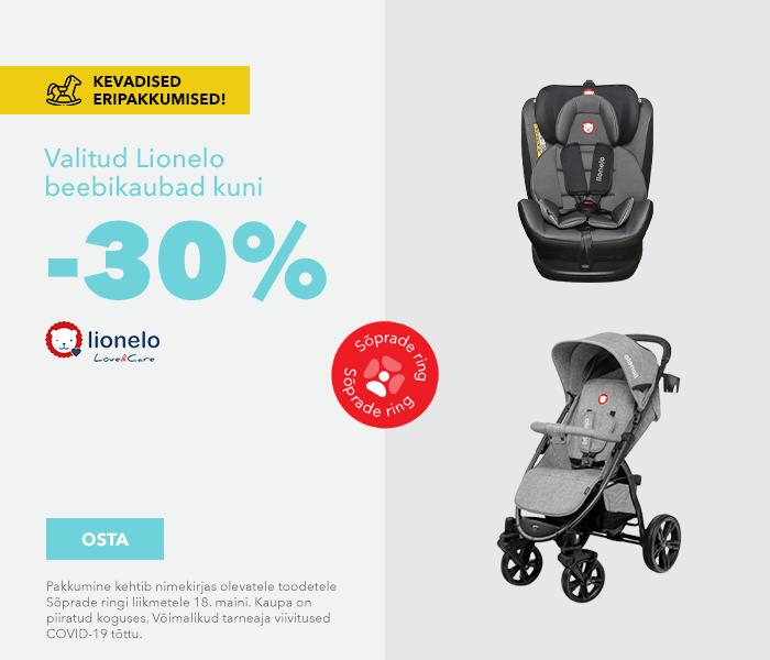 Kevadised eripakkumised  Valitud Lionelo beebikaubad kuni -30%