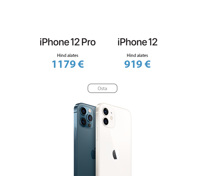 Apple iPhone 12 ja iPhone 12 Pro
