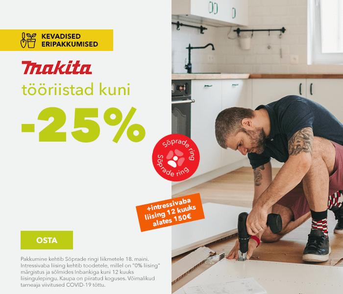 Kevadised eripakkumised Makita tööriistad kuni -25%