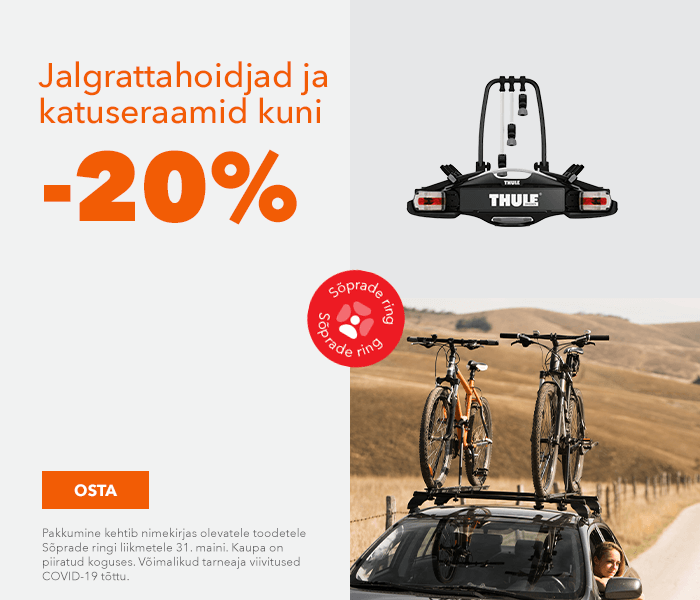 Jalgrattahoidjad ja katuseraamid kuni -20%