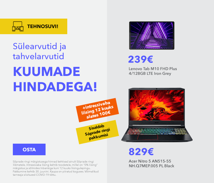 Tehnosuvi! Sülearvutid ja tahvelarvutid kuumade hindadega!