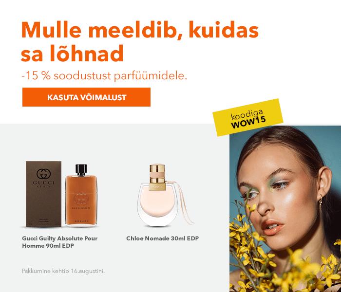 Mulle meeldib, kuidas sa lõhnad -15% soodustust parfüümidele.