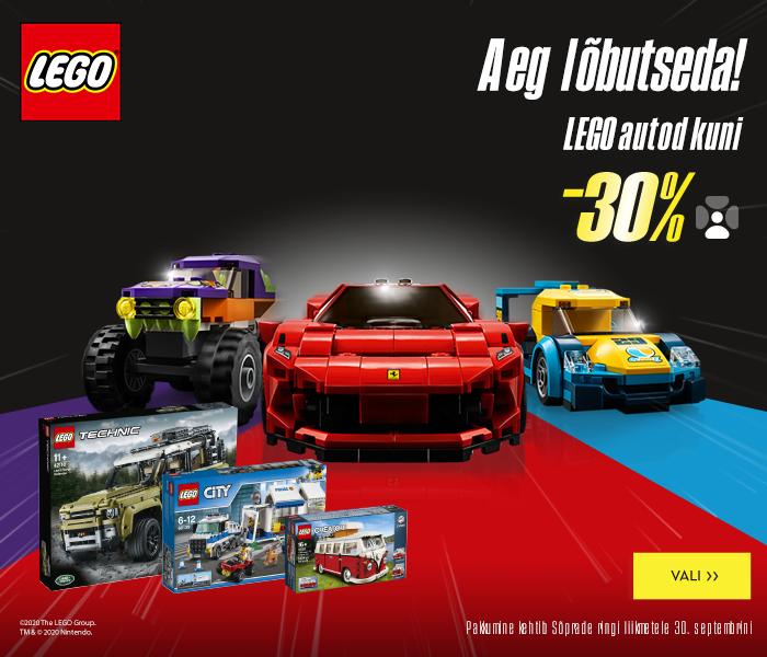 Aeg lõbutseda! LEGO autod kuni -30% ainult Sõprade ringi liikmetele