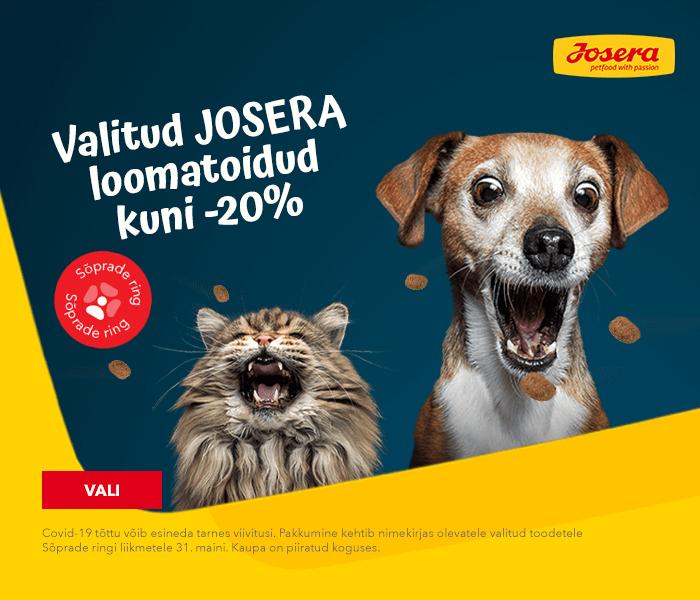 Valitud JOSERA loomatoidud kuni -20%
