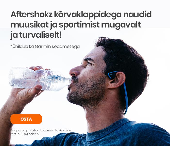 Aftershokz kõrvaklappidega* naudid muusikat ja sportimist mugavalt ja turvaliselt!