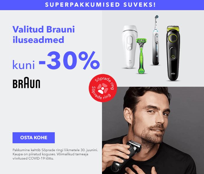 Superpakkumised suveks! Valitud Braun iluseadmed kuni -30%
