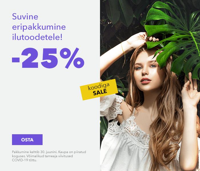 Suvine eripakkumine ilutoodetele! -25% koodiga SALE