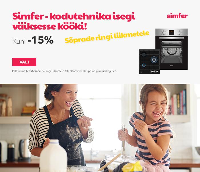 Simfer - kodutehnika isegi väiksesse kööki! Kuni -15% Sõprade ringi liikmetele